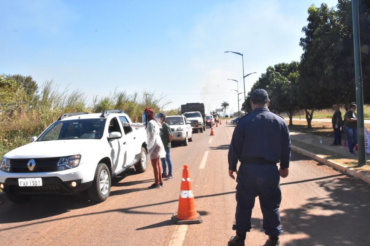 Porto Nacional instala barreiras sanitárias nas entradas da cidade para conter o avanço da Covid-19