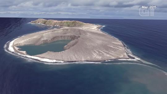 Timelapse mostra surgimento de ilha vulcânica em Tonga