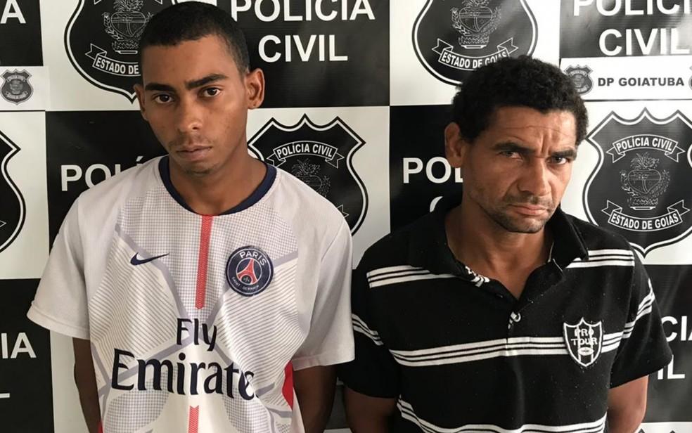 Marido e sobrinho são presos suspeitos de matar mulher por ciúmes — Foto: Polícia Civil/Divulgação