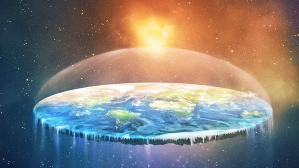 Recentemente, as teorias dos terraplanistas têm sido repetidas por mais pessoas — Foto: Getty Image via BBC
