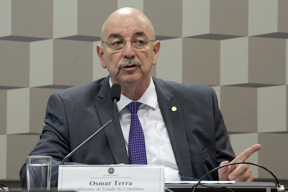 Osmar Terra, em foto de março de 2019 — Foto: Roque de Sá/Agência Senado