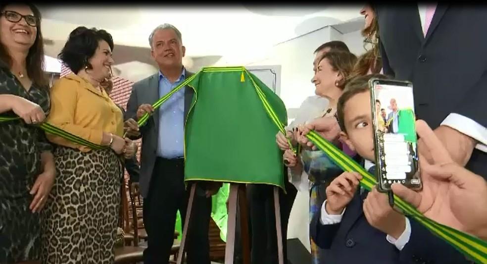 Autoridades inauguraram o novo pronto-socorro de Rio Branco — Foto: Reprodução