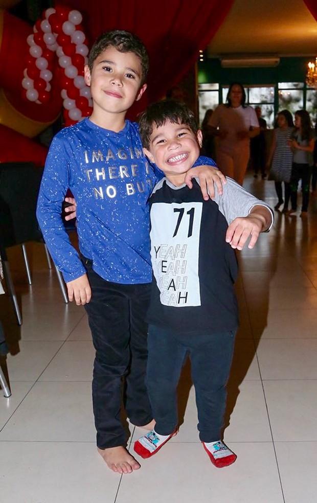 osé Marcus e João Francisco, filhos da cantora Wanessa Camargo (Foto: Manuela Scarpa/Brazil News)