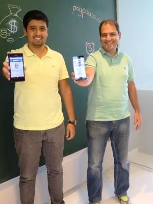 Amigos criaram juntos o site e o aplicativo PagPouco (Foto: Luna Oliva/G1)