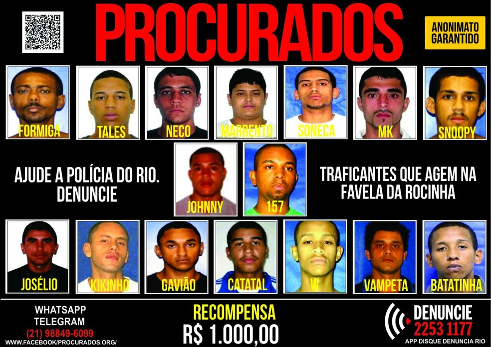 Disque-Denúncia pede informações sobre criminosos (Foto: Divulgação)