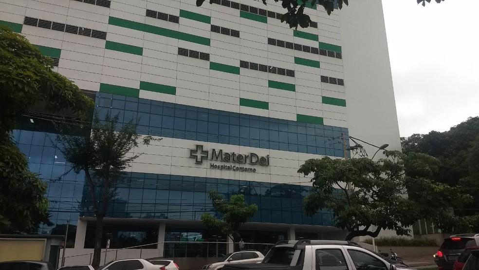 Hospital em Belo Horizonte que receberá Neymar (Foto: Guilherme Frossard)