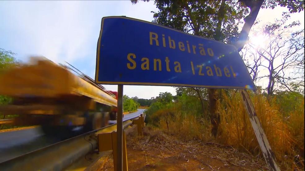 -  Ribeirão Santa Izabel é responsável pelo abastecimento de água em Paracatu  Foto: Reprodução/TV Globo