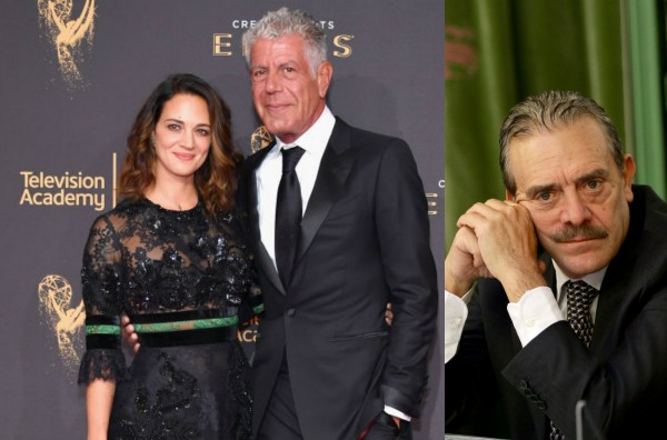 Anthony Bourdain, Asia Argento e Rino Barillari (Foto: Getty Images)