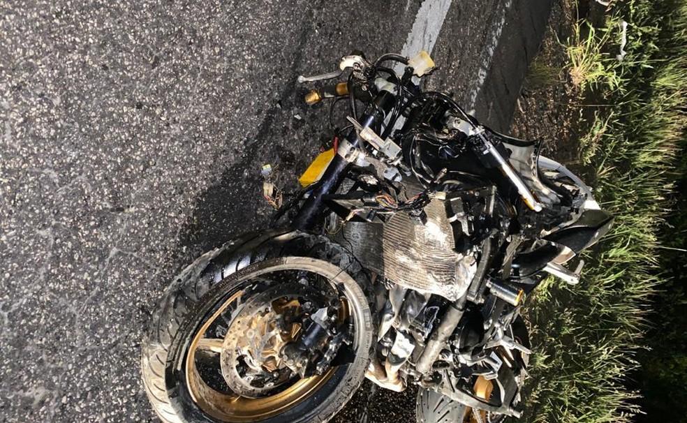Major da PM morre após moto ser atingida por carro em Cândido Sales, sudoeste da BA — Foto: Divulgação/Polícia Rodoviária Federal (PRF)