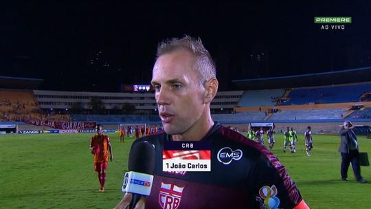 """Destaque do CRB, João Carlos diz que time precisa vencer: """"Empate não resolve nossos problemas"""""""