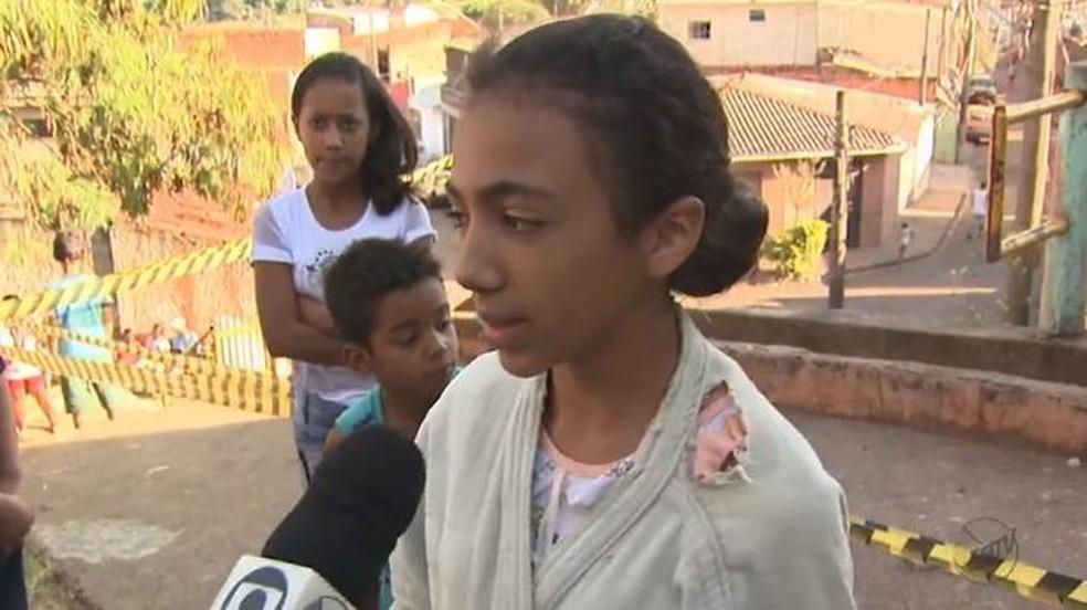 A estudante Ludimila Vitória Barbosa relatou os momentos do acidente em São Carlos (Foto: Reprodução/EPTV)