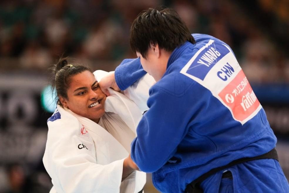 Maria Suelen no Mundial de Judô de Tóquio — Foto: Roberto Castro/ rededoesporte.gov.br