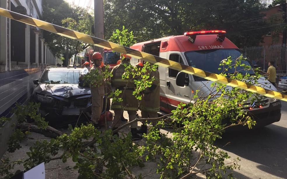 Mulher morreu após ser baleada no Maracanã, Zona Norte do Rio, na manhã desta sexta (10) — Foto: Alba Valéria Mendonça / G1