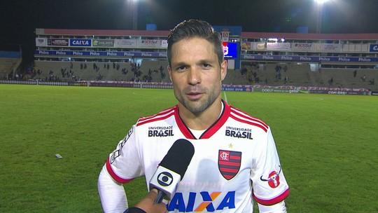 """Reserva contra o Paraná, Diego diz: """"O bem do Flamengo é mais importante que a titularidade"""""""