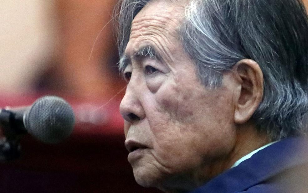 O ex-presidente do Peru, Alberto Fujimori, em foto de arquivo. — Foto: Reuters/Mariana Bazo