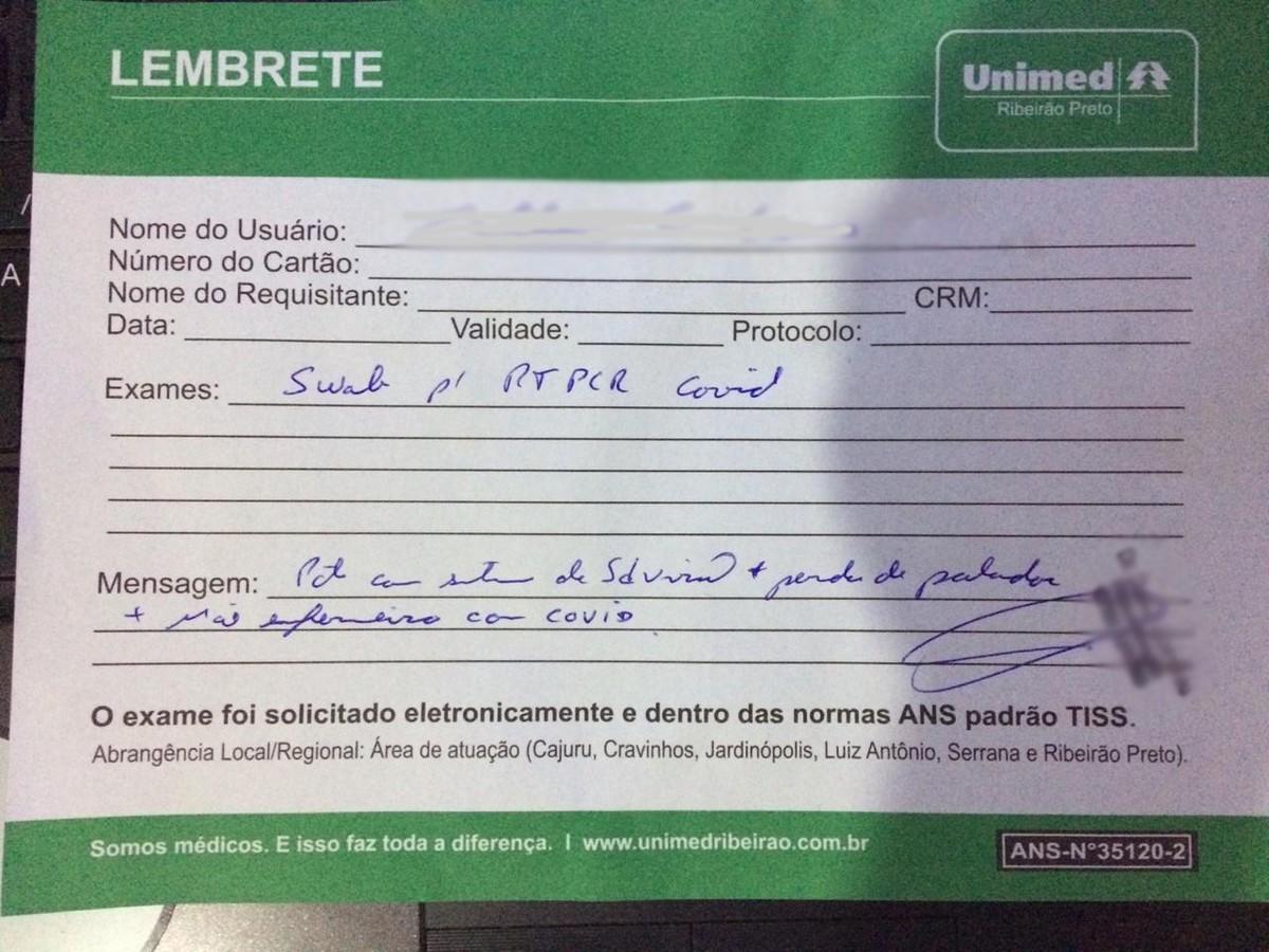 Planos de saúde dificultam acesso a testes da Covid-19 na região de Ribeirão Preto, dizem pacientes: 'só em caso muito grave' – G1