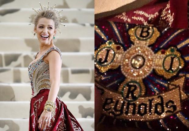 Blake Lively revela homenagem à família em vestido de gala (Foto: Getty Images e Reprodução/Instagram)