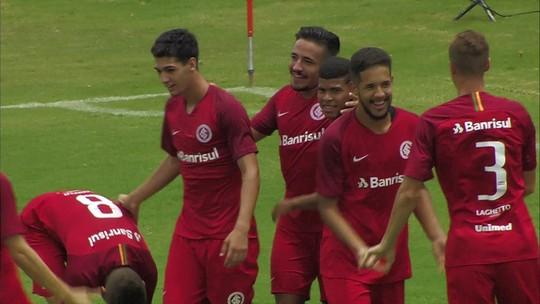 Os gols de Batatais 0 x 2 Internacional pela Copa SP de futebol júnior