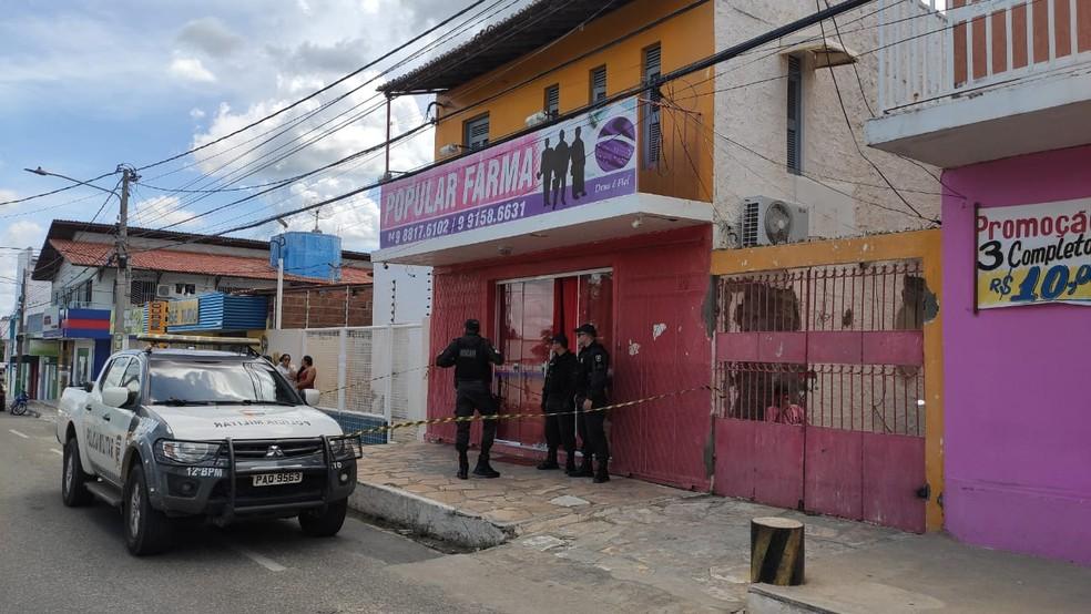 Flávia foi morta dentro do local de trabalho — Foto: Isaiana Santos/Inter TV Costa Branca