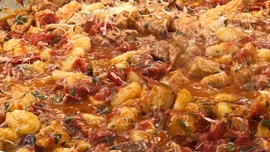 Nhoque com Sobras de Pernil do Chef Roberto Ravioli