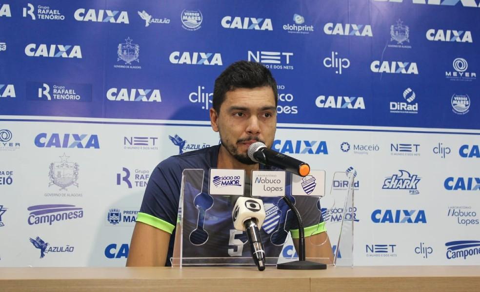 Felipe Garcia estava no CSA — Foto: Denison Roma - GloboEsporte.com