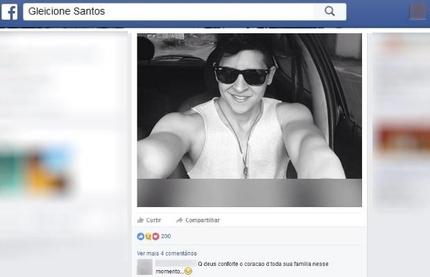 Gleicione dos Santos Silva morre em apartamento após ir a academia em Goiás (Foto: Reprodução/Facebook)