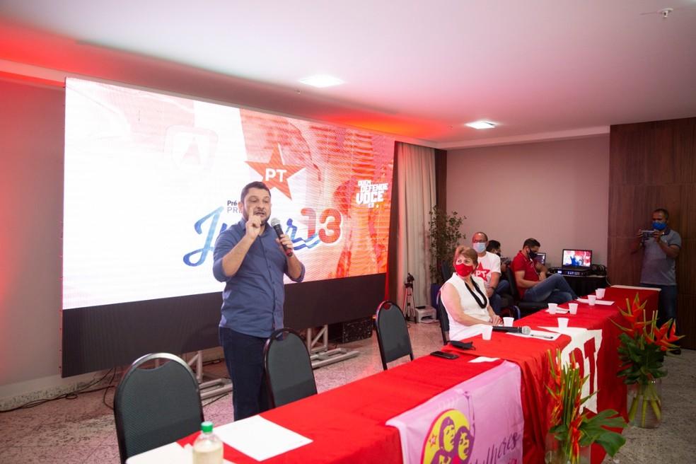 Julier Sebastião (PT), candidato a prefeito de Cuiabá — Foto: Reprodução