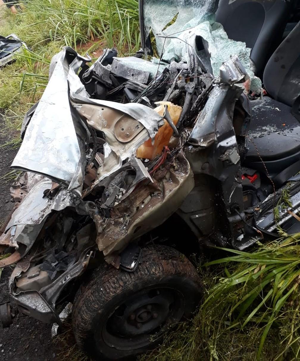 Mulher morre após acidente em Americana — Foto: Corpo de Bombeiros