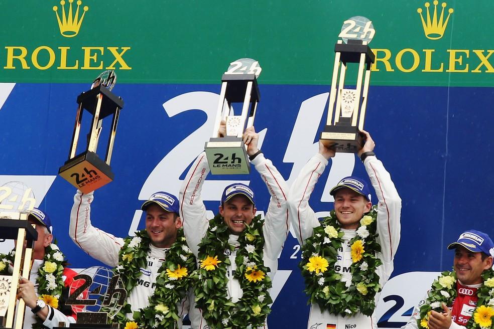 Nico Hulkenberg venceu em Le Mans em 2015 (Foto: Ker Robertson/Getty Images)