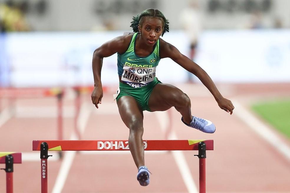Jéssica Moreira não passou da eliminatória dos 400m com barreira — Foto: Wagner do Carmo/CBAt