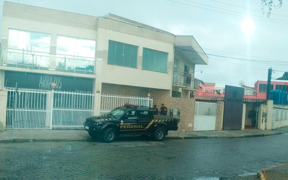 Polícia Federal cumpre mandados na Bahia e em Minas Gerais nesta quarta-feira (Foto: Arquivo Pessoal)