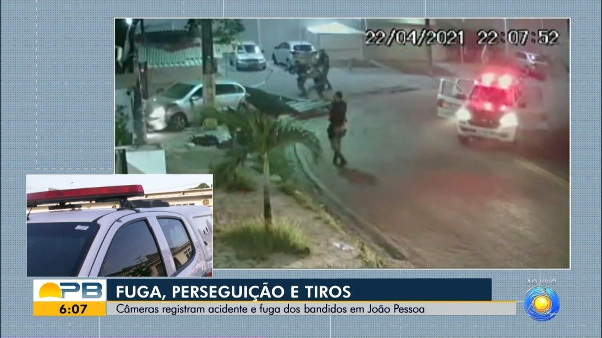 Suspeito de assaltar casa e roubar carro é preso após perseguição policial, em João Pessoa