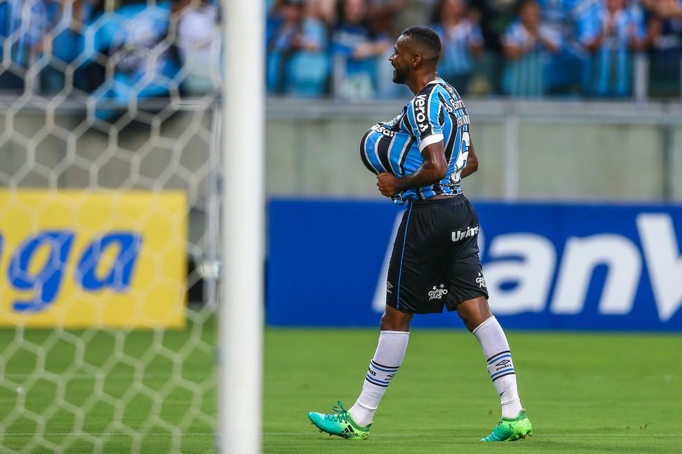 Leonardo é recordista de jogos do Grêmio — Foto: Lucas Uebel/Grêmio