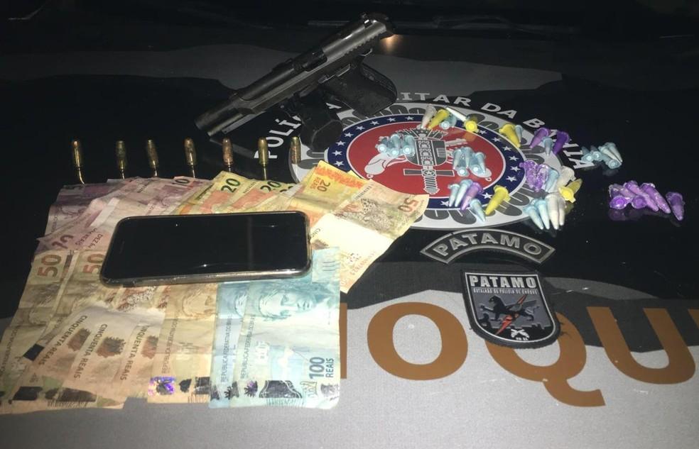 Suspeito de tráfico de drogas morre em confronto com policias em Águas Claras — Foto: Divulgação/SSP-BA