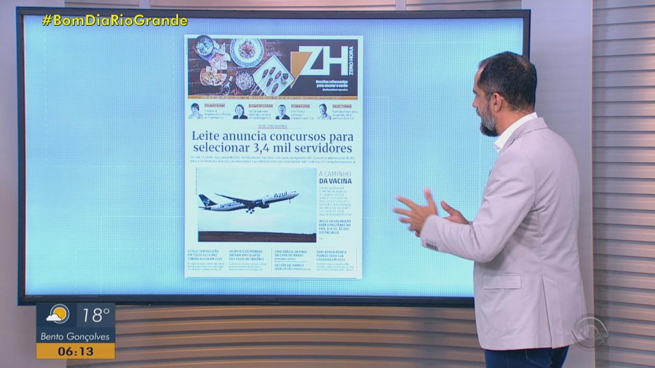 Confira as principais capas dos jornais do RS desta sexta-feira (15)