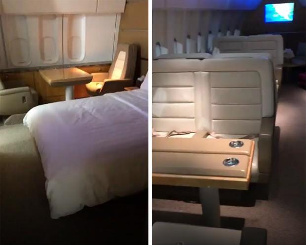 Kim Kardashian filma avião (Foto: Reprodução/Instagram)
