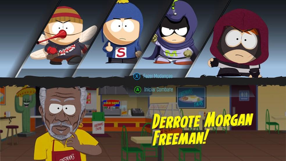 Como derrotar Morgan Freeman em South Park: The Fractured