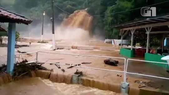 Chuva forte causa transtornos em cidades no Noroeste Fluminense