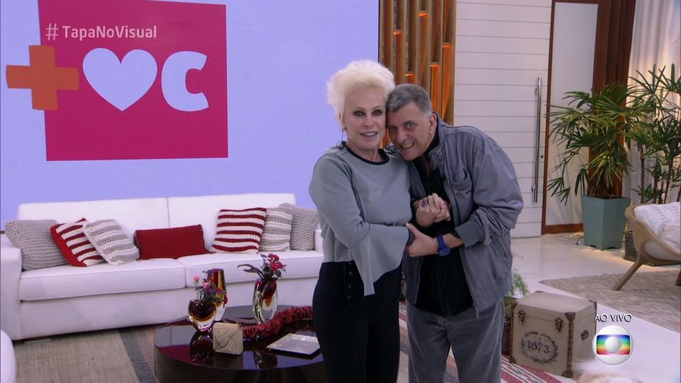 Ana Maria Braga e Jorge Fernando no 'Mais Você' após o AVC do ator e diretor (Foto: TV Globo)