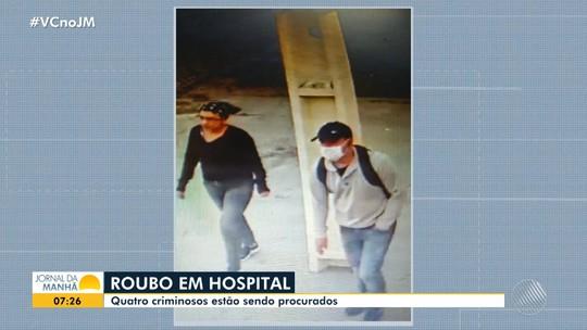 Câmera de segurança registra criminosos roubando equipamentos de hospital