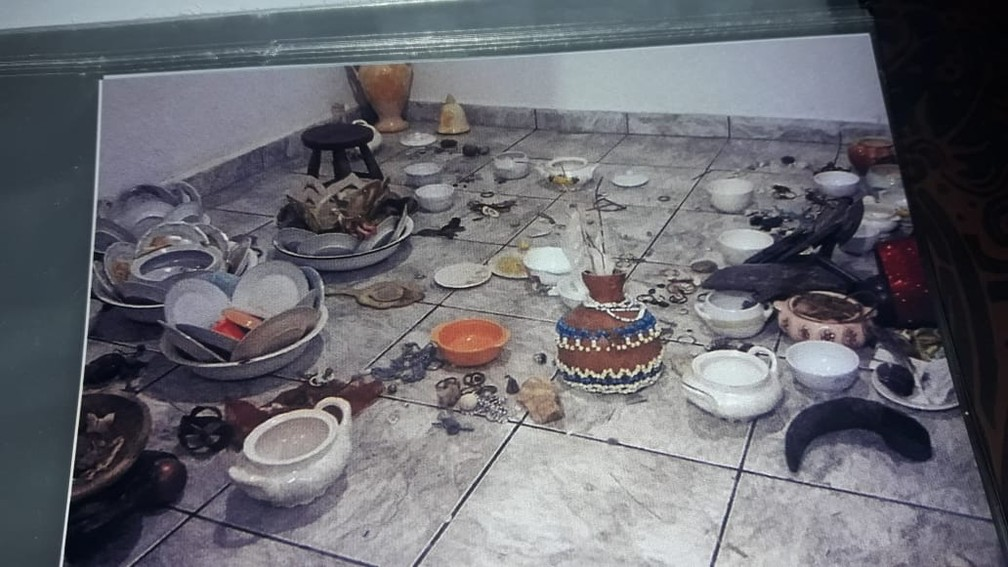 A casa de candomblé Ilê Asé Ojú Oyá, localizada em Guaianzes, Zona Leste da capital, foi atacada em março deste ano — Foto: Arquivo Pessoal/Divulgação