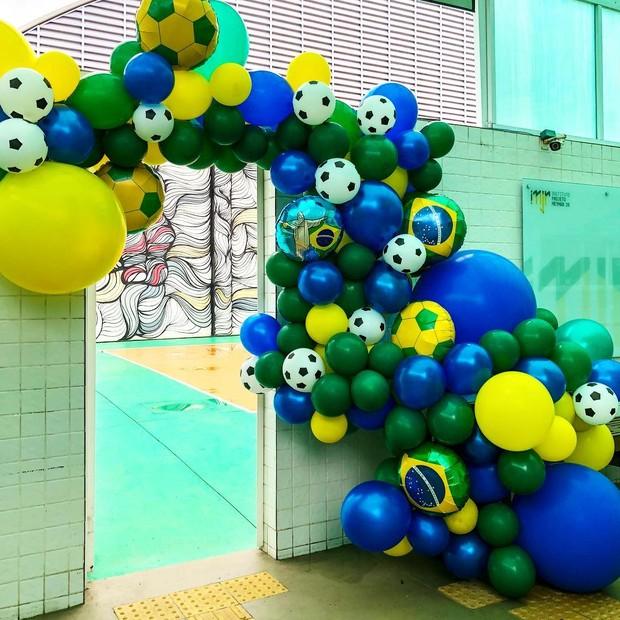A decoração da festa de aniversário de Davi Lucca (Foto: Reprodução Instagram)