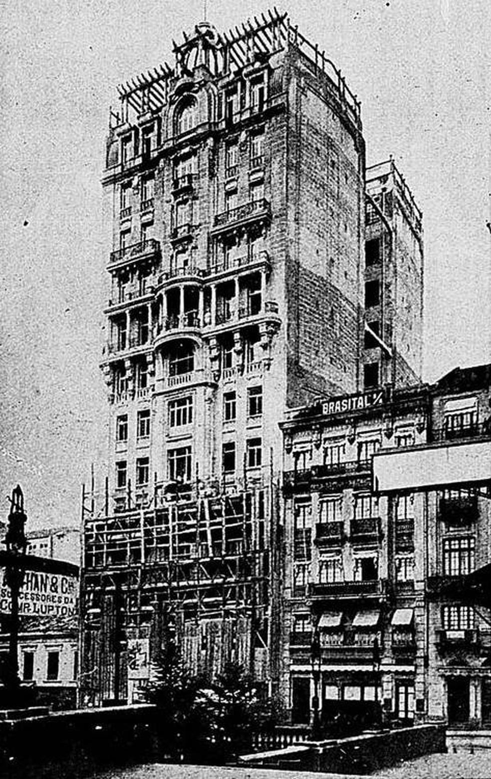 Edifício Sampaio Moreira inaugurado em 1924 — Foto: Reprodução