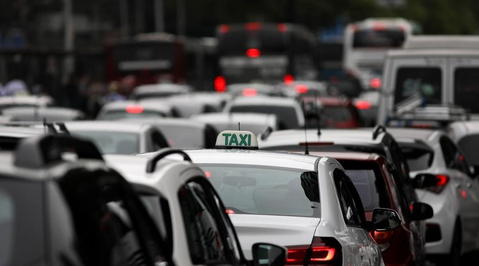 Táxi em SP. Cidade terá aplicativo criado no Rio (Foto: Wikicommons)
