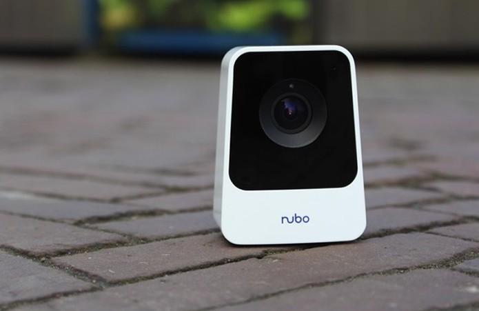 Nubo é uma câmera de segurança apresentada pela Panasonic com conexão 4G (Foto: Divulgação/Panasonic)