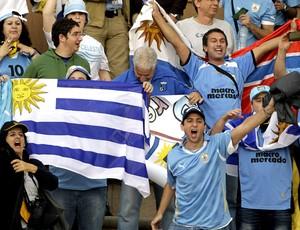 torcida uruguai x jordânia repescagem (Foto: Agência AFP)