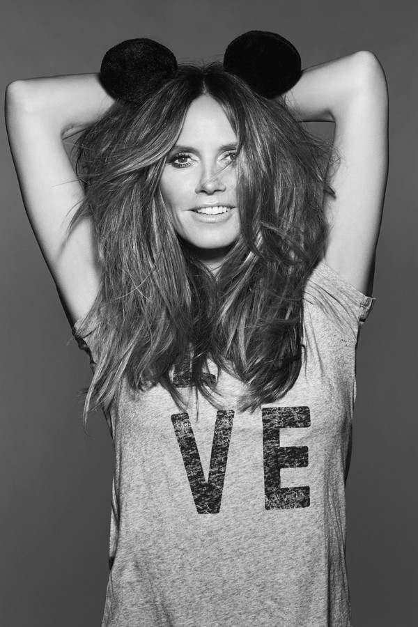 EMBARGOED UNTIL 1500, BST, WEDNESDAY 09 MAY 2018: Some of the world's most famous faces have come together to celebrate the 90th anniversary of Mickey Mouse this year and pay tribute to the cultural impact he has had on the world. Heidi Klum (pictured) is (Foto:  )