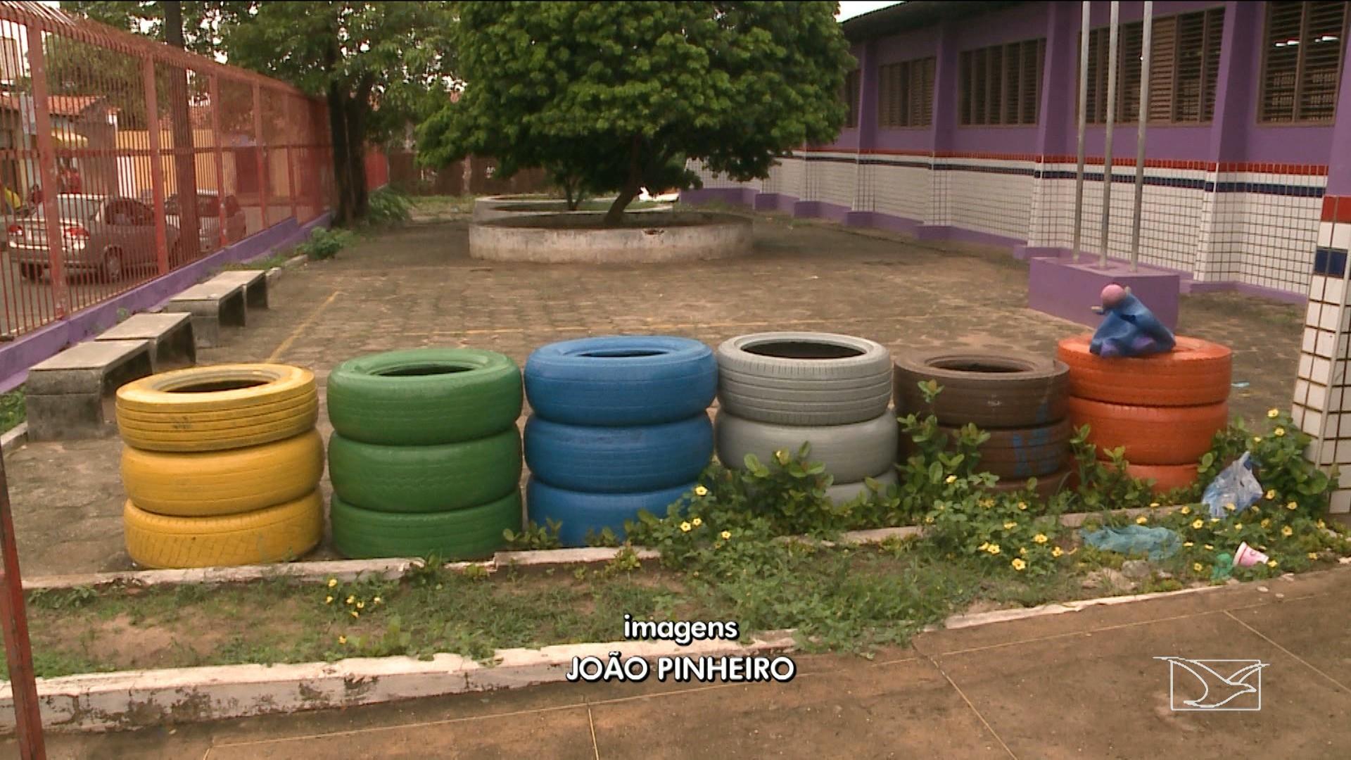Pneus/Lixeira instalados por Prefeitura viram criadouros do mosquito da dengue no Maranhão