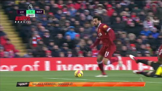 Gol de Salah, do Liverpool, é eleito a pintura da rodada internacional