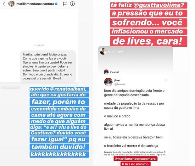 Pedidos a Marilia Mendonça (Foto: Reprodução/Instagram)